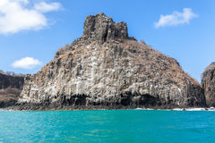 Rocks in Fernando de Noronha Island Royalty Free Stock Photos