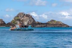 Rocks in Fernando de Noronha Island Royalty Free Stock Image