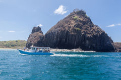 Rocks in Fernando de Noronha Island Royalty Free Stock Photo