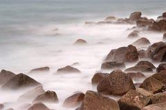 Rocks an fog Stock Photo