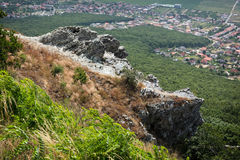 Rocks, forest and villages Stock Photos