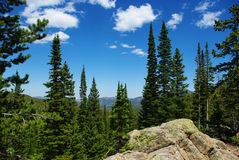 Rocks, forests and Rocky Mountains, Colorado Stock Image