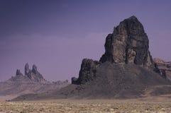Rocks formation on navajo land Royalty Free Stock Photo