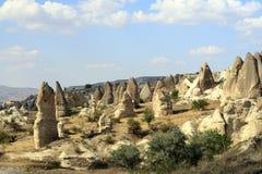 Rocks formations in Capadocia Royalty Free Stock Photos
