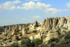 Rocks formations in Capadocia Royalty Free Stock Images