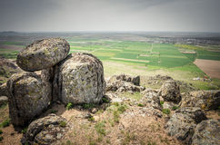 Rocks formations in Dobrogea, Tulcea county, Romania Royalty Free Stock Photography