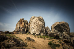 Rocks formations in Dobrogea, Tulcea county, Romania Stock Photography