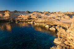 Rocks in Formentera Stock Photo