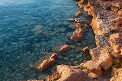 Rocks in Formentera Royalty Free Stock Images