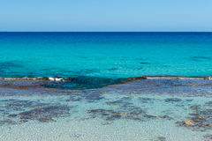 Rocks in Formentera Stock Photography