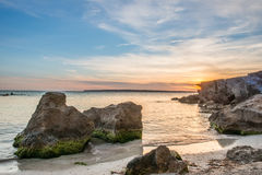 Rocks in Formentera Royalty Free Stock Image