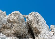 Rocks forming  a stone window Royalty Free Stock Photos