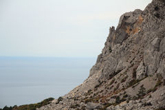 Rocks in Foros, Crimea Royalty Free Stock Photo
