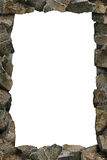 Rocks Frame. A continuous line of rocks forming a frame. Clipping path included for easy extraction from background Royalty Free Stock Photos