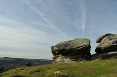 Rocks on Froggatt Edge Stock Images