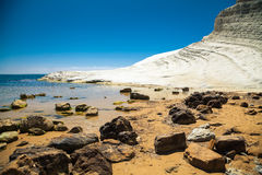 Rocks in front of Scala dei Turchi Stock Image