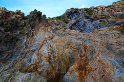Rocks. In geology is called rock to the association of one or several minerals, natural, inorganic, heterogeneous, of variable chemical composition, without Royalty Free Stock Photography