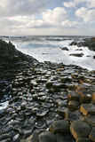 Rocks at the Giant's Causeway in Northern Ireland Royalty Free Stock Photo