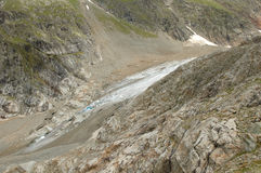 Rocks and glacier in Alps in Switzerland Stock Photography