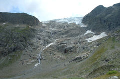 Rocks and glacier in Alps in Switzerland Royalty Free Stock Photography