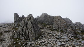 Rocks on Glyder Fawr in Snowdonia Stock Image