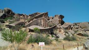 Rocks at Gobustan National Park, Azerbaijan.
