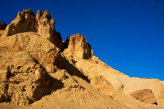 Rocks in Golden Canyon. At Death Valley National Park, California royalty free stock images