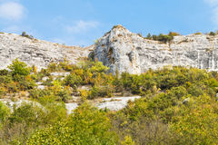 Rocks in gorge mariam-dere in Crimean mountains Stock Photography