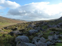 Rocks grass sky landscape Waterford Ireland. Rocks grass sky landscape in county Waterford Ireland Stock Photo