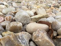 Rocks on the ground. Landscaping rocks from a different perspective Royalty Free Stock Images