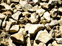 Rocks on the ground texture.  royalty free stock photo