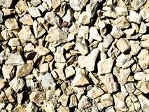 Rocks on the ground texture.  royalty free stock photography