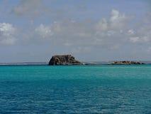 Rocks Guarding the Coast of Anguilla Stock Photo