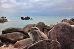 The rocks on the Gulf of Thailand Stock Images