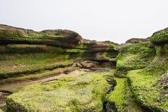 Rocks in Gwangchigi beach in Jeju Royalty Free Stock Photography