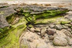 Rocks in Gwangchigi beach in Jeju Stock Photo