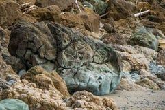 Rocks in Hawke's Bay. New Zealand Stock Image
