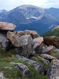 Rocks on High. High tundra in the Colorado Rocky Mountains royalty free stock images