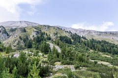 Rocks and hills in Pirin  mountain,Bulgaria Royalty Free Stock Photography