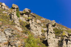 Rocks on the hillside Royalty Free Stock Images