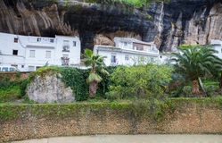 Rocks and houses Royalty Free Stock Image