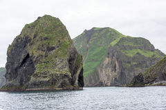 Rocks, Iceland. Rocks in ocean, Heimaey, Westman Isles Royalty Free Stock Photos