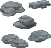 Rocks illustration. An illustration of different rock formations Royalty Free Stock Images