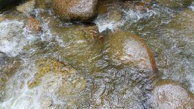 Rocks immersed in river. Kedondong water falls in malaysia Royalty Free Stock Image