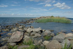 Rocks island at baltic sea Stock Photos