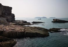 Rocks, Islands and the Bohai Sea royalty free stock images