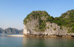 Rocks and islands of Ha Long Bay near Cat Ba island, Vietnam. stock photos