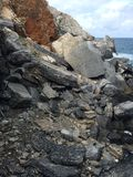 Rocks in Italian sea Royalty Free Stock Photo