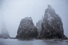 Rocks in Japanese sea Royalty Free Stock Images
