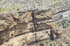 Rocks Jebel Shams. Image of rocks on mountain Jebel Shams in Oman stock photos